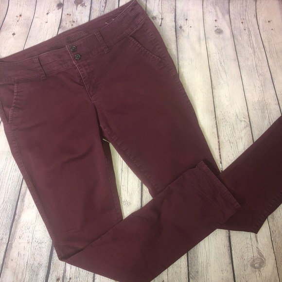American Eagle Outfitters Denim - American Eagle Burgundy Skinny Jeans